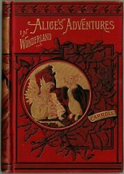 1884 ALICE'S ADVENTURES IN WONDERLAND and THROUGH THE LOOKING GLASS X-RARE FINE