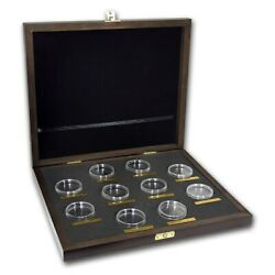 Wooden Presentation Box - GB 2 oz Silver Queen's Beasts Series with Capsules