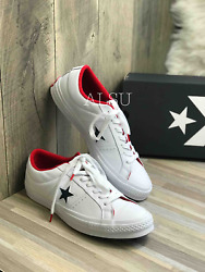 Sneakers Men's Converse One Star Leather Low Top White Athletic Navy