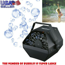 Bubble Machine Maker Blower Equipment with High Output For Wedding DJ Party Kids