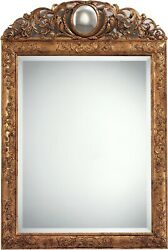WALL MIRROR DAVID MICHAEL REFLECTIONS XVII C NEW HAND-CARVED FRAME CARVE