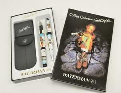 Rare WATERMAN Coffret Collector LARA CROFT Tomb Raider FOUNTAIN PEN Set HIMALAYA