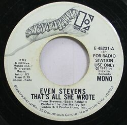 Rock Promo 45 Even Stevens - That'S All She Wrote  That'S All She Wrote On Elek