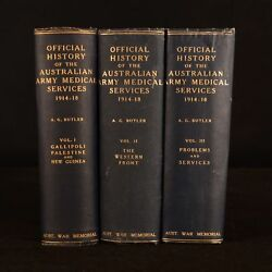 1930-1943 3vol History of the Australian Army Medical Services First Edition Map