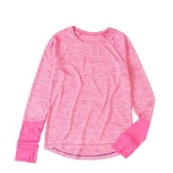 Danskin Now Girls Long Sleeve Performance Raglan Tee Size Medium 7 8 Pink $8.95