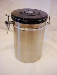 Friis Stainless Steel Coffee Grounds Air Tight Container $19.99