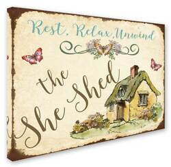 Jean Plout 'The She Shed 2' Gallery-Wrapped Canvas Art [ID 3650329]