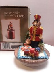 HOLIDAY TIME JAR CANDLE DECORATIVE COVER CHRISTMAS SOLDIER $7.99