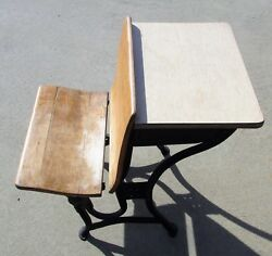 Antique Student Folding Desk American Seating Company Grand Rapids MI c1911 $110.00