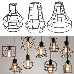 3 pcs Vintage Guard Pendant Light Bulb Cage Ceiling Hanging Lampshade $29.26