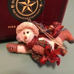 Boyds Bears Retired Snowman Ornament Chilly With Wreath