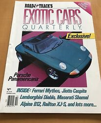 ROAD & TRACK EXOTIC CARS QUARTERLY 1990 JULY $9.00