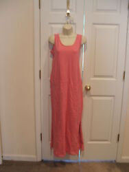 new in pkg Newport News pink punch beach cover up long casual dress size small $17.59