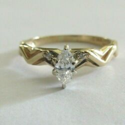 14 Gold Diamond Engagement Ring Center=1 4 Carat F SI1 Size 9.50 $295.00
