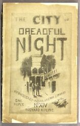 Rudyard Kipling  The city of dreadful night and other places 1891 Literature