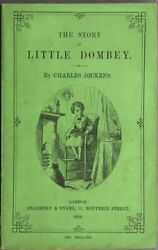 CHARLES DICKENS  The story of Little Dombey First Edition 1858 Literature
