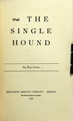 May Sarton  The single hound Signed 1st Edition 1938 Literature