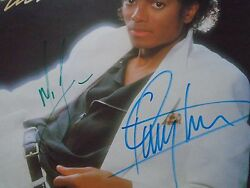 MICHAEL JACKSON AND QUINCY JONES PERSONALLY SIGNED