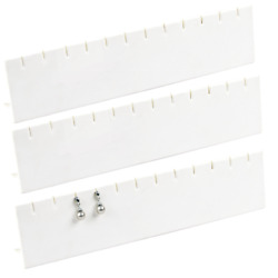 LOT OF 3 LONG EARRING DISPLAY STAND WHITE EARRING DISPLAY JEWELRY DISPLAY HOLD 6