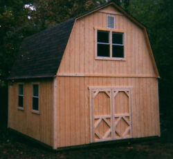 18x24 TWO STORY BARN STYLE SHED PLANS