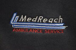 """""""Med Reach Ambulance Service"""" Embroidered ½-Zip Sweater Size Small $38.95"""