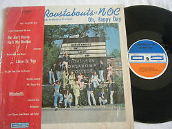 ROUSTABOUTS of NOC Northern Oklahoma College -Oh Happy Day LP 70s Pop -Heilmann