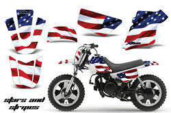 Dirt Bike Graphics Kit MX Decal Wrap For Yamaha PW50 PW 50 1990-2018 USA FLAG
