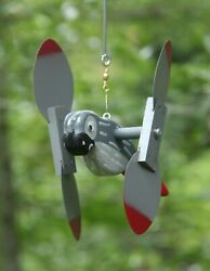 African Grey Parrot Mini Whirligigs Windmill Yard Art Hand made from wood $9.00