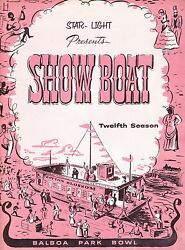 1957 Show Boat Play Program From San Diego Balboa Park Bowl Musical $12.99