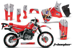 Decal Graphic Kit MX Sticker Wrap + # Plates For Honda XR650L 1993-2018 TBOMB R
