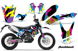 Decal Graphic Kit Wrap For KTM Adventurer 690 Supermoto Enduro 2008-2015 FLASHBK