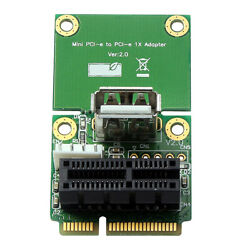 Mini PCIe to PCI 1X Slot Riser Card Expansion Board Support Full Half Size $13.31