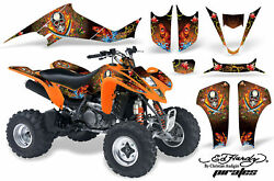 ATV Decal Graphic Kit Wrap For Suzuki LTZ400 Kawasaki KFX400 2003-2008
