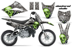 Dirt Bike Decal Graphic Kit Wrap For Kawasaki KLX110L KLX 110L 10-18 CHECKER GRN