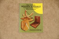 Easy To Make Wooden Sundials Instructions & Plans for 5 Projects Milton Stoneman
