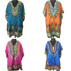 Short Kaftan Dress Hippy Boho Maxi Plus Size Women Caftan Tunic Dress Night Gown $6.95