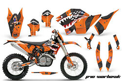 Decal Graphic Kit Wrap For KTM SXXCR-WEXCXCXC-WXCF-W 2007-2011 WARHAWK ORG