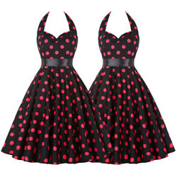 Womens Retro 1950s Bandage Swing Party Work Tunic Rockabilly Evening Swing Dress