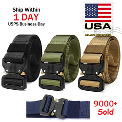 Casual Military Tactical Belt Mens Army Combat Waistband Rescue Rigger Belts $8.98