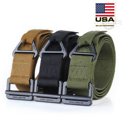 Adjustable Nylon Waistband Outdoor Combat Rescue Rigger Military Tactical Belt $8.88
