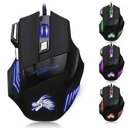 Gaming Mouse 7 Button USB Wired LED Breathing Fire Button 3200 DPI Laptop PC $7.95