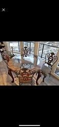 Use Brown Dining Table Only Round Glass Table $618.00