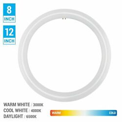 FC8T9 FC12T9 LED CFL Replacement Circline T9 4 Pin G10q Cool Warm White Daylight $19.95