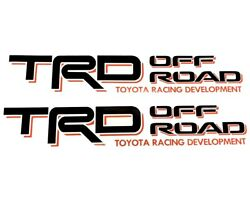 TRD Decals Vinyl Stickers 1 PAIR BLACK + RED Graphics for Toyota Tundra Tacoma