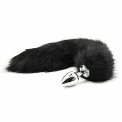 Fox Tail Anal-Butt Plug Romance Game Funny Toy CAT Cosplay Black