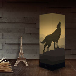 Wolf Paper Lanterns Touch Projector Desk Lamp  for Home Decor Kids Gifts