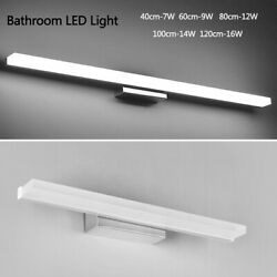 Modern Stainless Steel LED Vanity Light Wall Lamp Bathroom Front Makeup Fixture