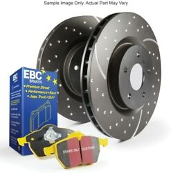 EBC S5KF1524 S5 Kits Yellowstuff And GD Rotors Front For 07-12 BMW 335i 3.0L