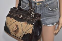 Vintage American West tooled leather handbag tapestry horse convertible purse $129.00
