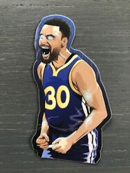 Steph Curry Vinyl Sticker Eyes Golden State Warriors Champion High Quality Blue $3.49